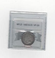 **1900**,Coin Mart Graded, Newfoundland 20 Cent, **VF-20**