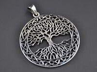 Großer Keltischer Lebensbaum Baum Des Lebens Anhänger Silber Gothic Schmuck NEU