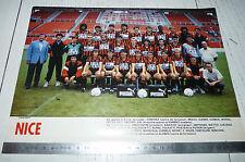 CLIPPING POSTER FOOTBALL 1987-1988 OGC NICE OGCN NISSA RAY AIGLONS