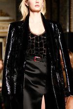 €1390 Authentic EMILIO PUCCI RUNWAY Black SILK Blend Sheer BEADED Top 44 US-8 M