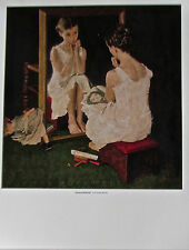 Norman Rockwell Poster Girl At The Mirror 14x11 Offset Lithograph Unsigned