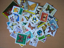 70 DIFFERENT BUTTERFLIES AND MOTH STAMPS,EXCELLENT.