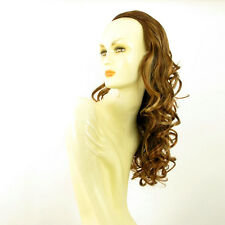 Demi-tête, demi-perruque 58cm châtain cuivré méché blond clair ref 016 en 6bt27b