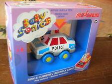 MAJORETTE RARE BABYSONICS VOITURE POLICE BLEU Ref 1401!