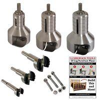 Master Kit Pro Series dual blade tenon cutters, Log Furniture, PSK3 3 cutter set