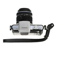 Black Genuine Leather Camera Hand Wrist Strap for Sony Leica Canon Nikon Olympus