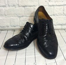 Cole Haan Nike Air Wing Tip Oxford Black Leather Mens 9.5 M Lot