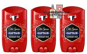 Old Spice CAPTAIN Deodorant Stick 50ml - 3 Pack