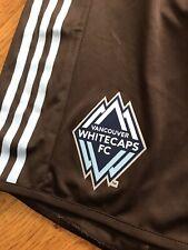 BNWT Adidas Vancouver Whitecaps Shorts Arbutus Brown Soccer MLS