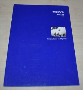 1998 Volvo Cars People, facts and figures Brochure Prospekt ENG