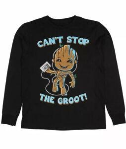 Marvel Boys Guardians of The Galaxy Vol.2 I Am Groot Scribbles Sweatshirt 7-8 Years Size:7-8Y Black Blk Black