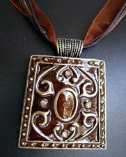 Unbranded Rhinestone Bronze Fashion Necklaces & Pendants