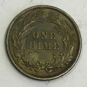 U.S.A. America 1898 Silver Barber Dime Coin