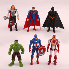 AVENGERS SET 6 PERSONAGGI ACTION FIGURE SUPERMAN BATMAN HULK CAPITAN AMERICA