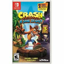 Nintendo Switch Crash Bandicoot N-Sane Trilogy Original 3 Games BRAND NEW SEALED