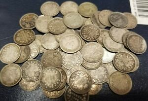 MIXED LOT OF 62 CANADA SILVER 5 CENTS**** 1870-1920