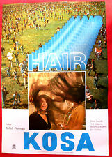 HAIR 1980 MILOS FORMAN JOHN SAVAGE BEVERLY D'ANGELO T.WILLIAMS EXYU MOVIE POSTER