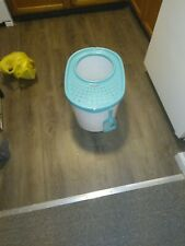 Local Pick Up Only Iris Top Entry Cat Litter Box with Scoop white/sea foam.