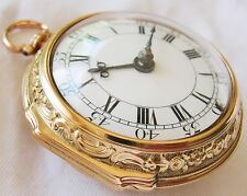 SuperB Verge fusee Solid 22k Gold repousse Pocket watch Thomas Dale year 1758