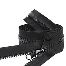 #10 Heavy Duty Separating Double Pull Metal Slider Marine Grade Zipper
