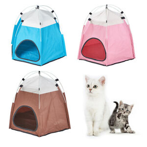 Cat Dog Pet portable Crate Cage Folding tent House Bed Cage Travel Outdoor
