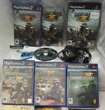 SOCOM U.S. Navy Seals: Boxed headset and games x 4 (Sony PlayStation 2 bundle)