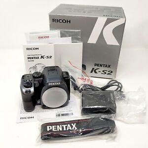 Pentax K-S2 silky grey DSLR - white solenoid - cleaned sensor - latest firmware
