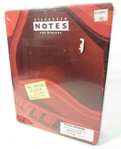 VTG Software Evergreen Notes Version 1.0 For Windows / DOS 3.1 3.5in Floppy Disc