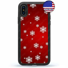 Christmas Gifts iPhone 11 Pro Max Xs XR 8 Plus 7 Case Cover Snow Flakes Pattern