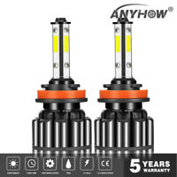 4-Side H11 H8 H9 LED Headlight Kits 120W 32000LM Bulbs High Power 6000K Canbus