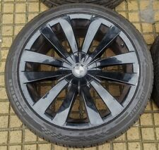 """BMW 7 SERIES 5 GT 1X 20"""" GENUINE STYLE 253 BLACK FRONT USED ALLOY WHEEL TYRE"""