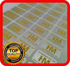 Yellow print! 1500 Security hologram labels, void warranty tamper seals 14x9mm