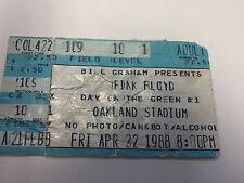 Pink Floyd Ticket Stub 4/27/88