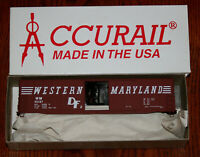 HO SCALE FREIGHT CAR KIT ACCURAIL 5703 WESTERN MARYLAND 50' WELDED AAR BOXCAR