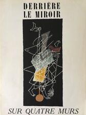 """DERRIERE LE MIROIR """"PAS COMPLET"""" Pierre Reverdy Georges Braque 1951"""