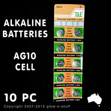 10 X AG10 BUTTON BATTERIES T&E LR1130 BATTERY CELL 1.5V ALKALINE 189 389A 10PCS