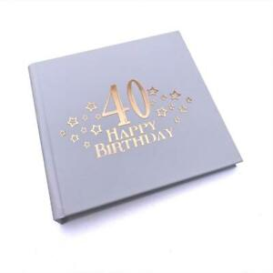 40th Birthday Photo Album For 50 x 6 by 4 Photos Rose Gold Print FLPVPR