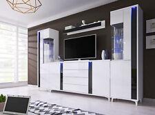 Wohnwand Schwarz Weiß Hochglanz Günstig Kaufen Ebay