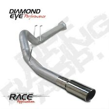 "Diamond Eye K4376A 4"" D.P.F. Back Exhaust, Single, Alum, For 11-14 Ford"