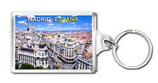 MADRID SPAIN MOD8 KEYRING SOUVENIR LLAVERO