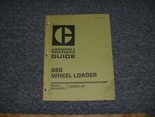 Cat Caterpillar 980 Wheel Loader Lubrication Operator Maintenance Manual 89p906