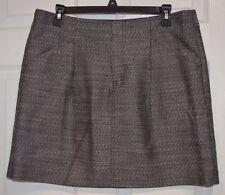 Ann Taylor Gray Skirt Size 10 34x17 Cotton Blend 2 Front Pockets
