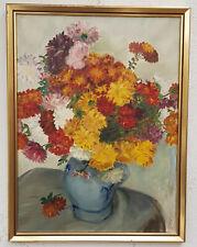 Ölgemälde Stillleben Blumen + Rahmen Kunst