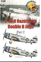 Bombshell 1/48 decals P-47D Razorback Double D Jugs Pt II Tamiya Hasegawa