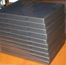 10 Used Empty, Standard Size Black DVD Cases With Clear Plastic Sleeve