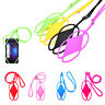 Silicone Lanyard Case Cover Holder Sling Necklace Wrist Strap For Cell Phone JG