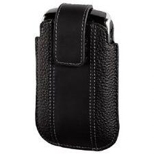 Hama Etui Tasche f. BlackBerry 8220 Pearl Flip Liftfunktion, Leder Schwarz 91493