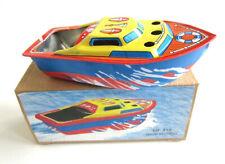 COLORFUL PONYO SHIP Pop-Pop Boat Putt Vtg style Tin Litho Candle Power RUDDER