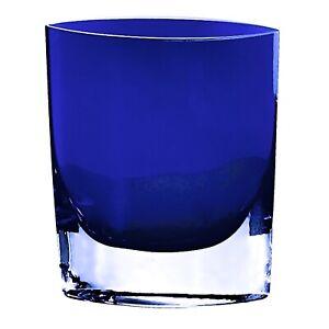 """Badash Crystal Cobalt Samantha European Mouth Blown 8"""" Pocket Vase"""