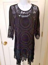 NWT Aria Penelope Black Lace Dress (2 Piece) Ladies Size Small Retail $89